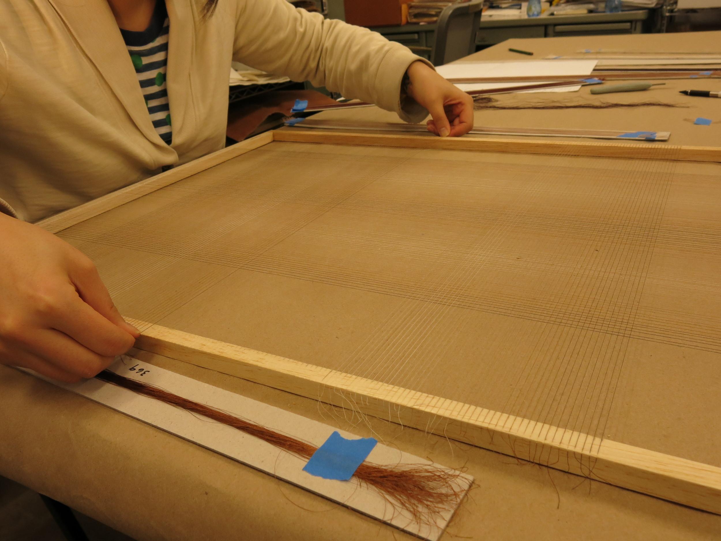 Threading the frame.