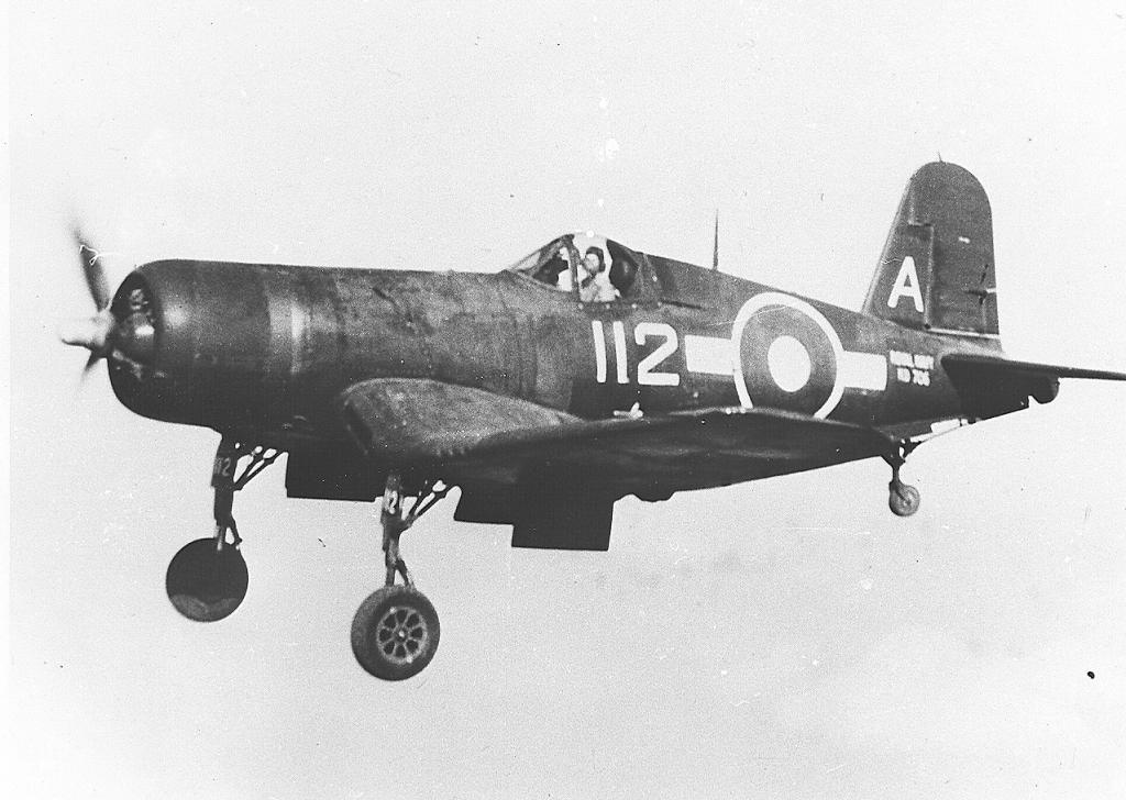 An FAA Corsair wearing Pacific Fleet livery.
