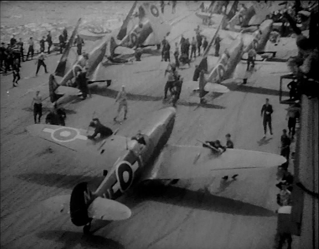 Seafires aboard HMS IMPLACABLE.