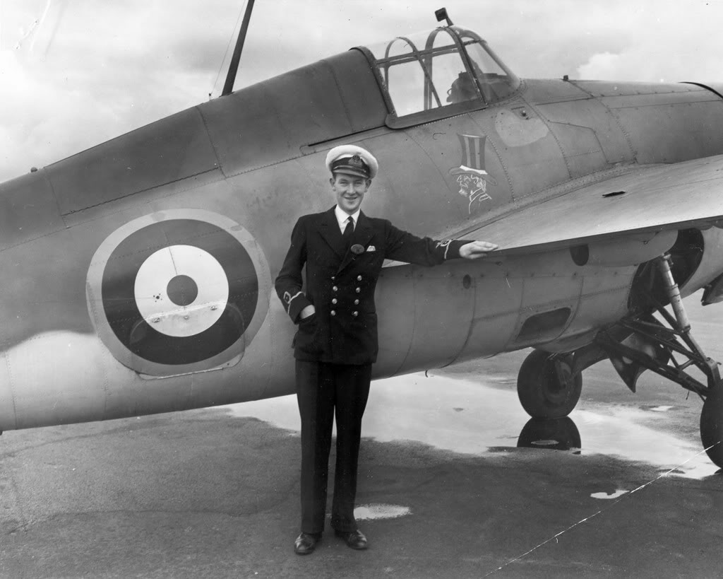 Eric 'Winkle' Brown with a Martlet I
