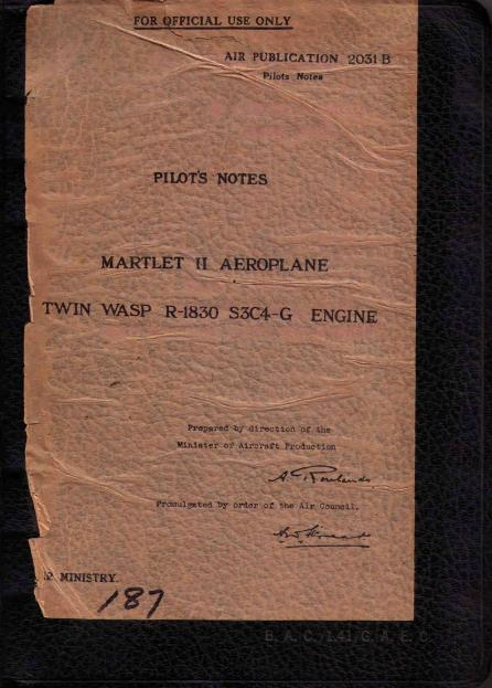 CLICK HERE for an original FAA Marlet II performance data sheet