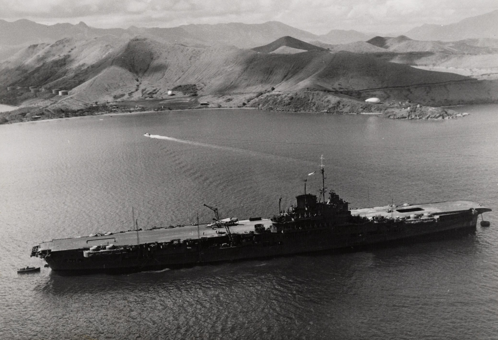 HMS VICTORIOUS moored in Noumea, New Caledonia.