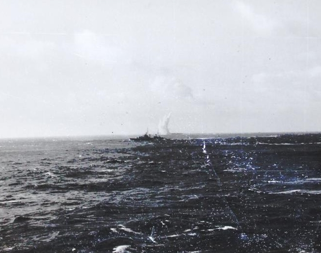 The detonation alongside HMS VICTORIOUS, from another angle