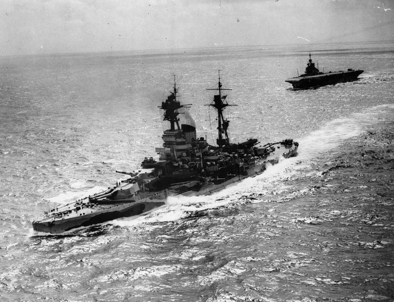 HMS RESOLUTION with FORMIDABLE in April/May 1942.