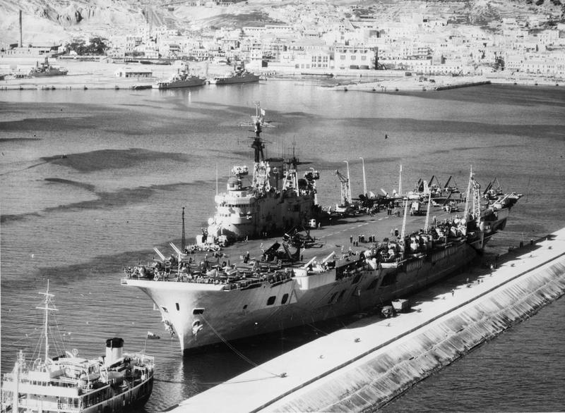 HMS EAGLE at Mers el Kebir, Oran, when she paid an official visit to French North Africa.