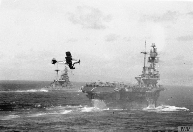 HMS EAGLE with MALAYA.