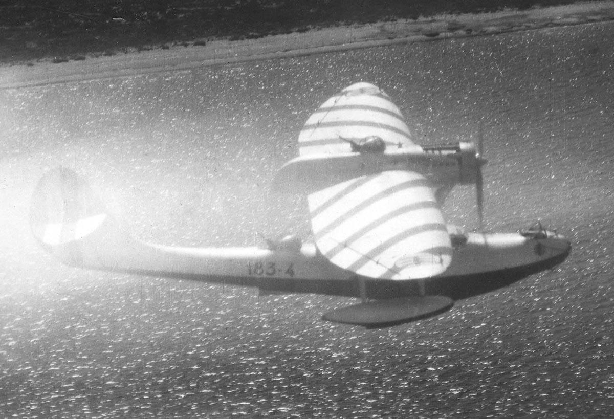 An Italian Cant 501 seaplane.