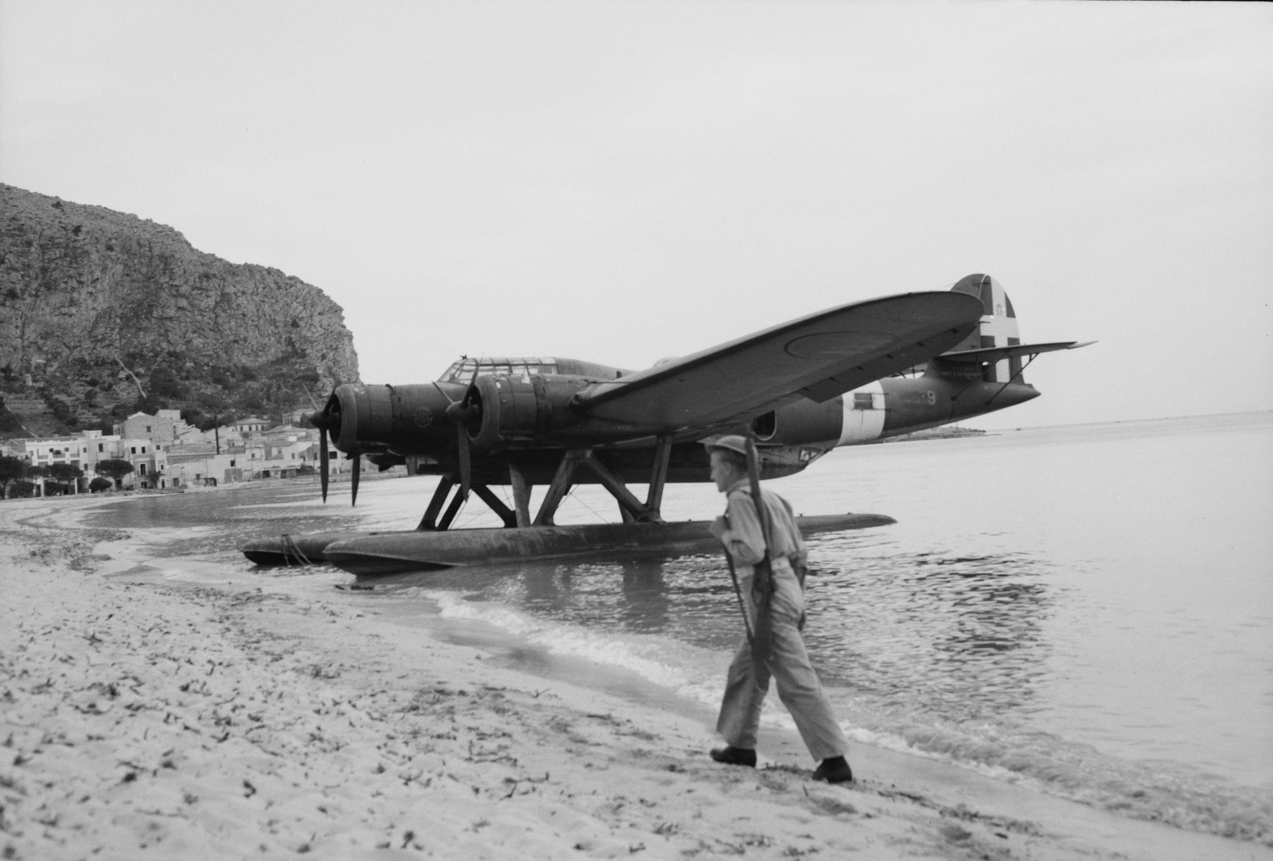 An Italian Cant z506 reconnaissance seaplane.