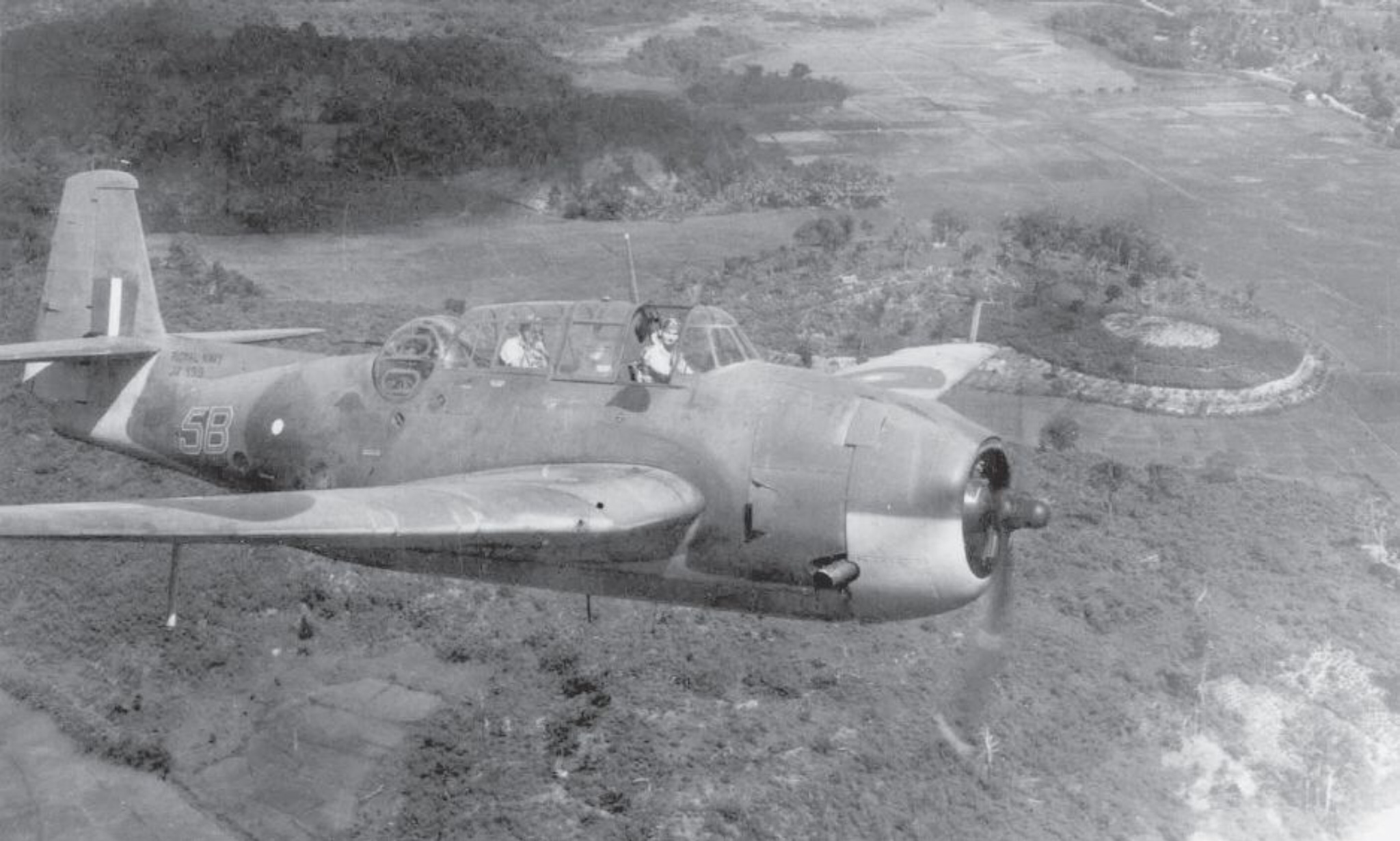 Fleet Air Arm Avengers carried four 500lb bombs in each of the Meridian raids.