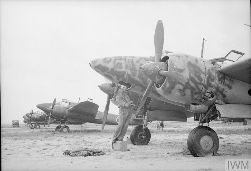 A Kawasaki Ki-45 Toryu (Nick) fighter after the surrender of Singapore in 1945.