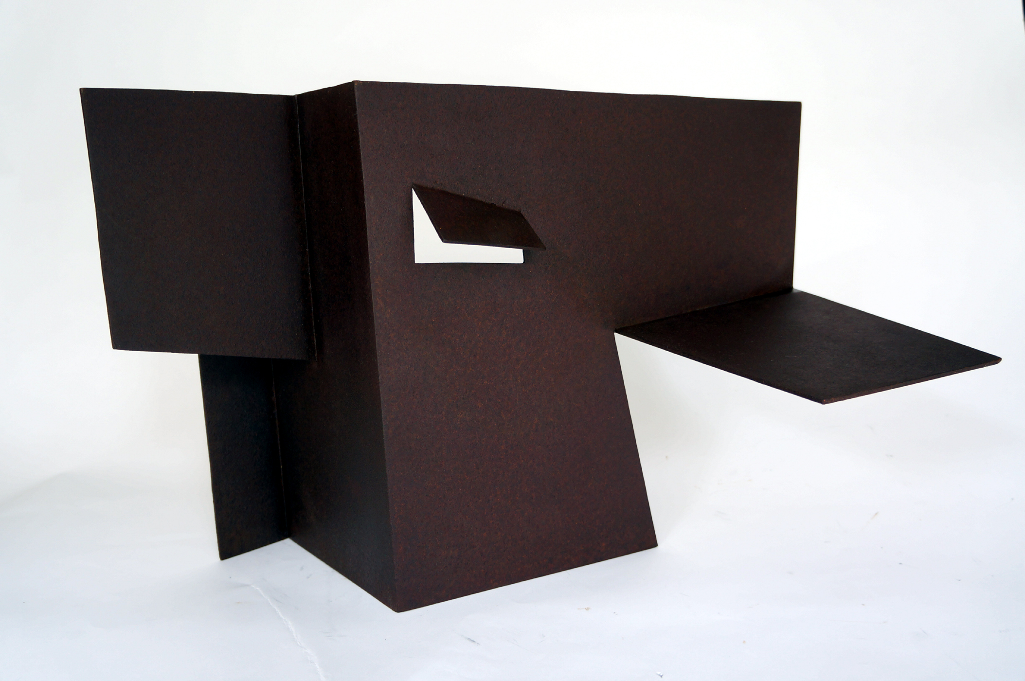 "Folded Form #8  1988 Steel 21"" x 16"" x 13.5"""