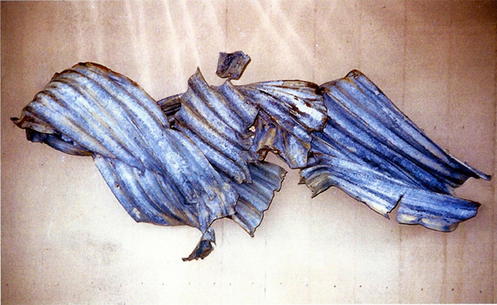 """Kluge #3, Leviathan  1997 Steel 88"""" x 42"""" x 18"""""""