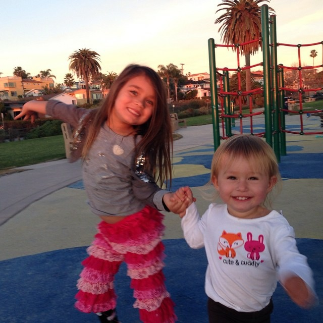 Ava and Amelie in Southern California.
