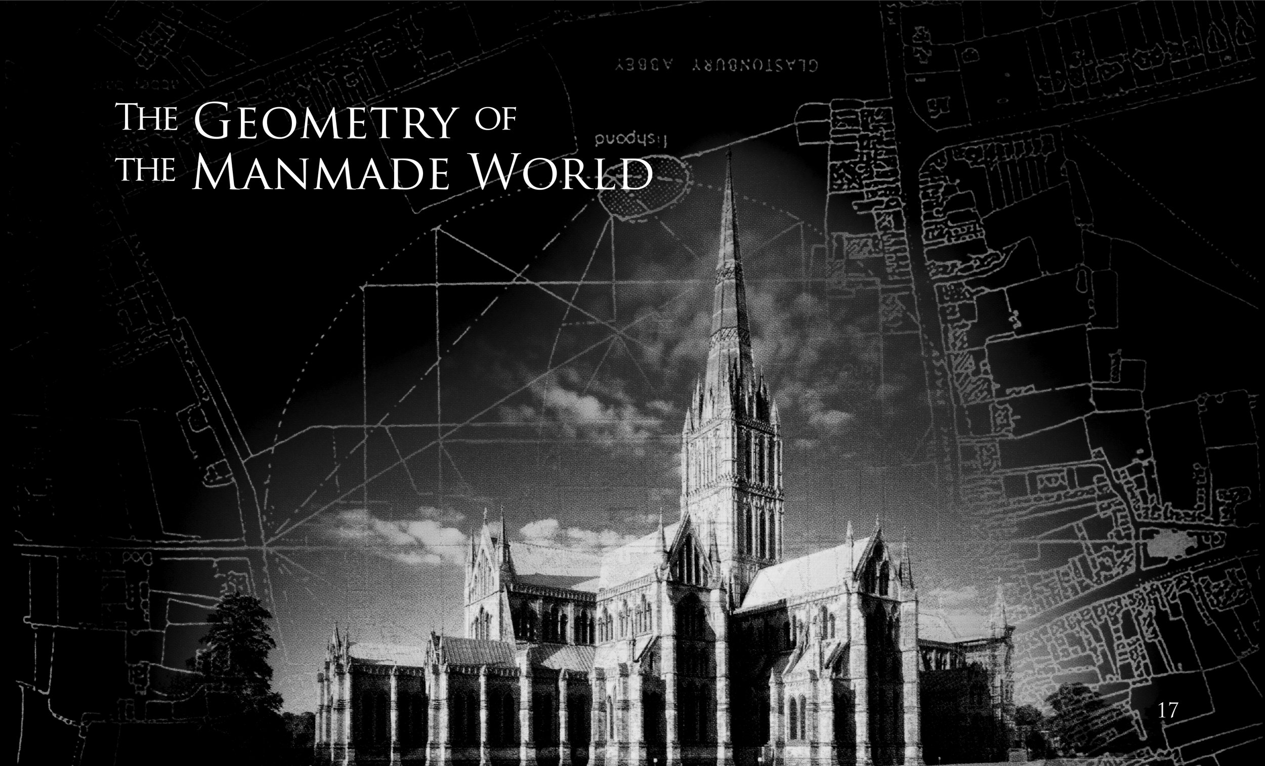 The introduction to the section for geometry existing in the manmade world - this is a flat taken direct from the production file.