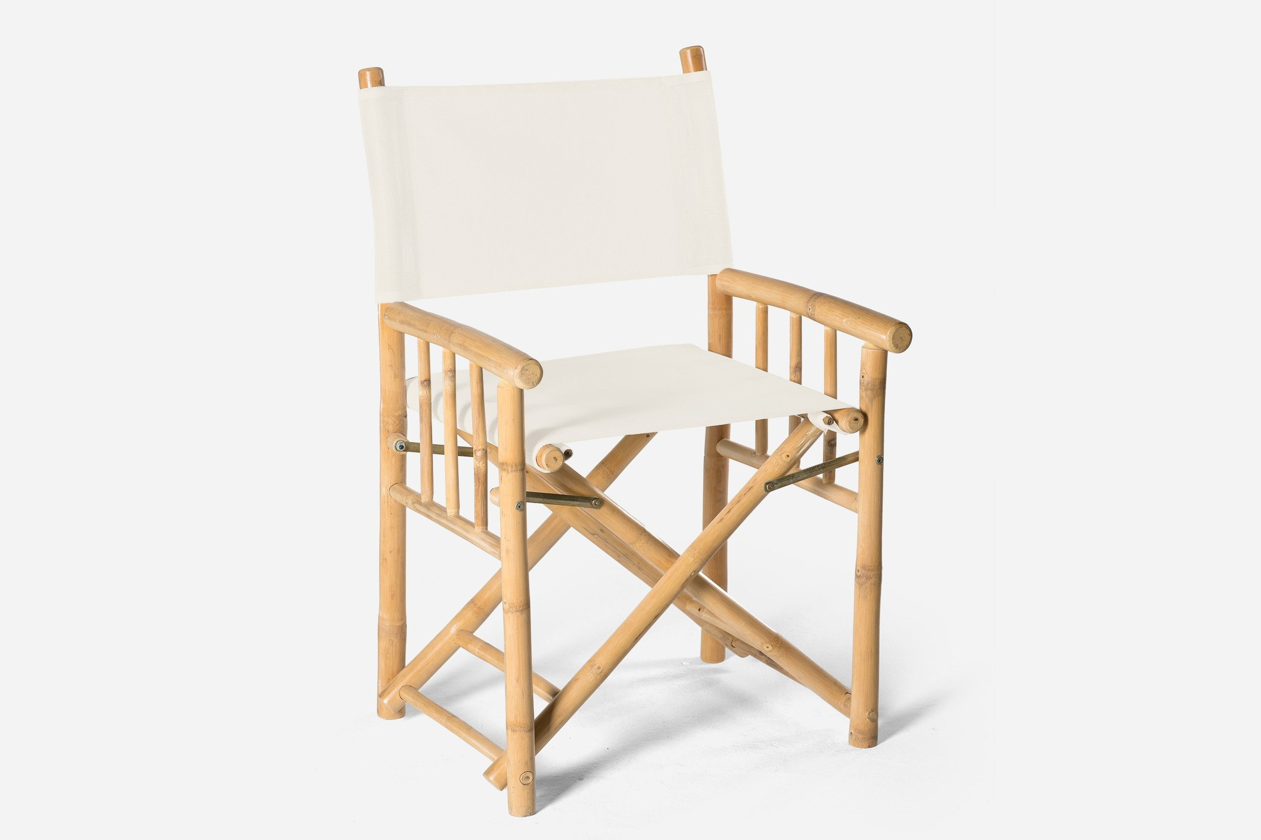 Bamboo Directors Chair White   500mm (L) x 570mm (W) x 900mm (H) $25