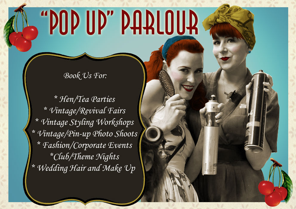BOOK HERE:  contact/book      HEN/ PAMPER PARTY PRICES  Why not book us for a Hen/Pamper Party - we perform makeovers from any bygone era.. 20's 40's 50's or 60's? - Why not theme your whole party in you favorite era?