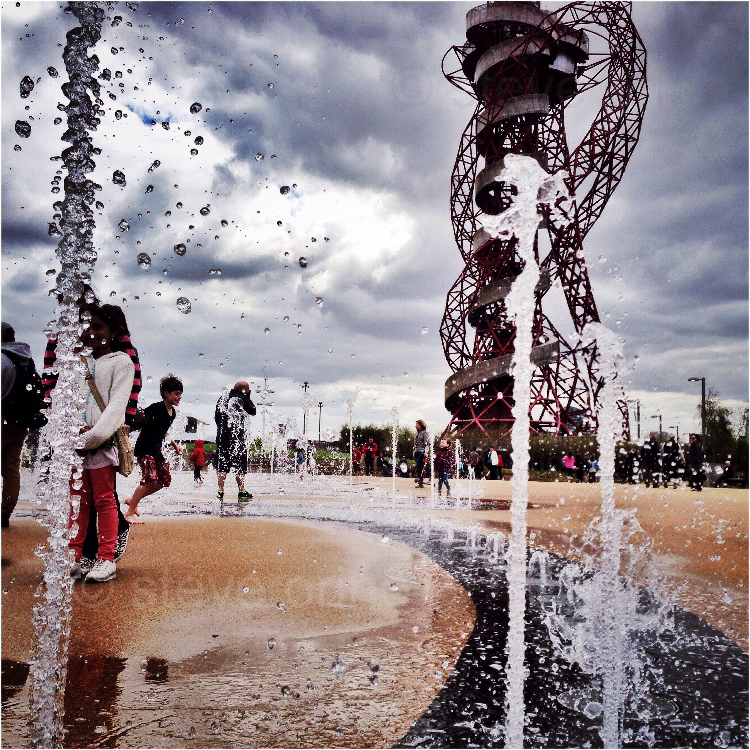 Orbit Circus fountains