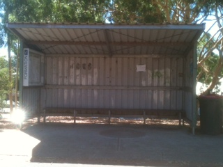 THIS IS THE OLD MARGARET RIVER BUS STOP MARCH 2014