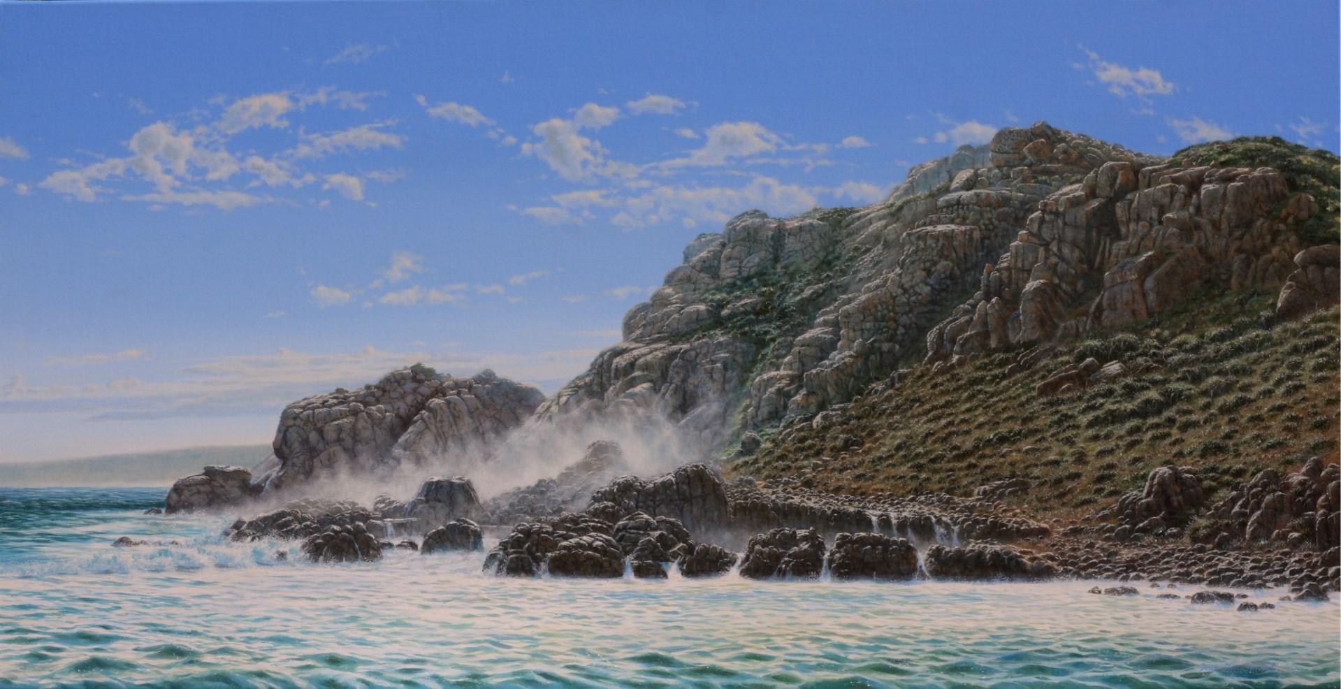 BIG SWELL by Sam Broadhurst Acrylic on canvas 101 x 198 cm