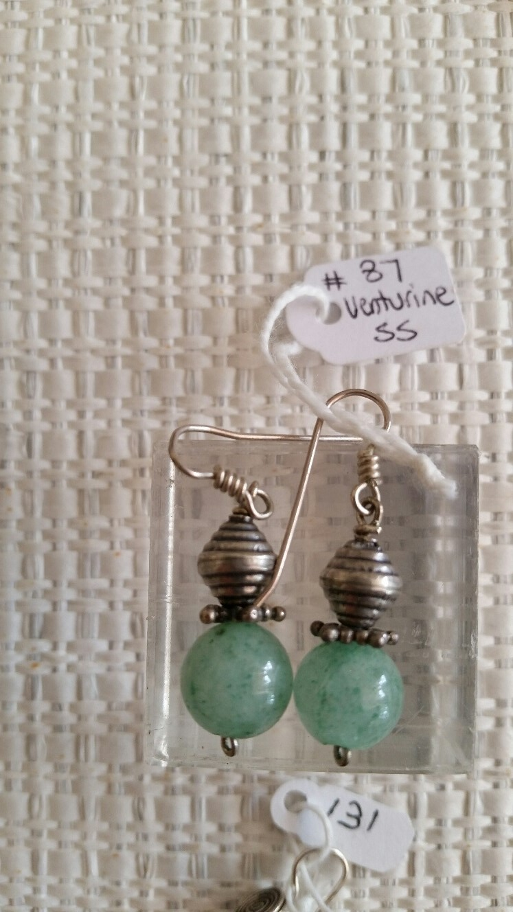 Title: Venturine Earrings #87