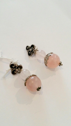 Title: Rose Quartz Earrings #137