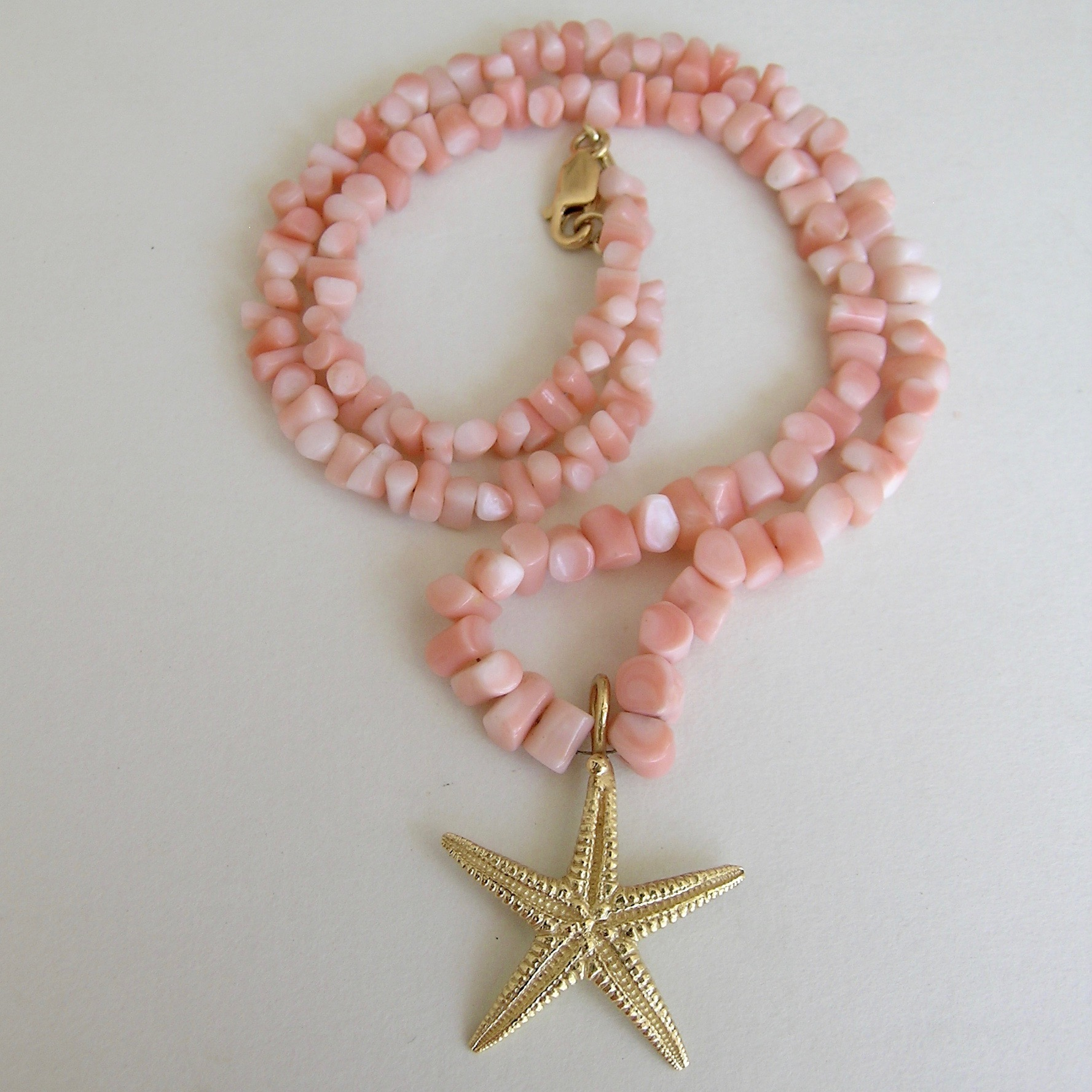 ANGEL SKIN CORAL STARFISH NECKLACE