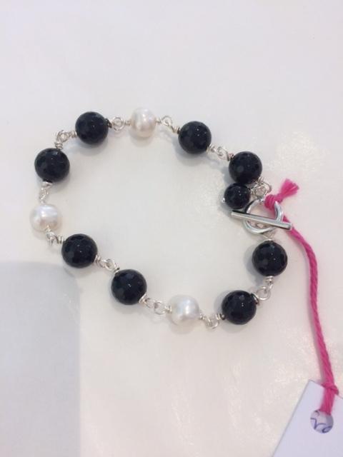 Braclet onyx&pearl #3333.JPG