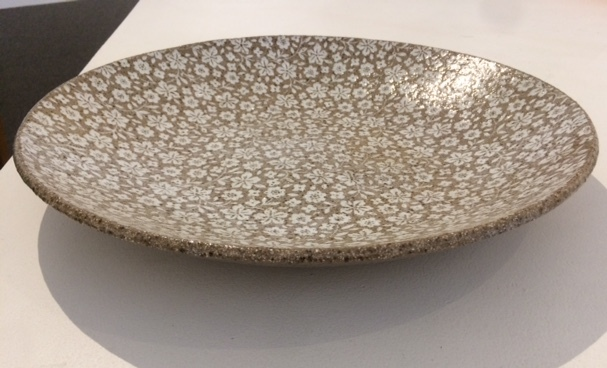 LARGE SPECKLED CHERRY BLOSSOM BOWL