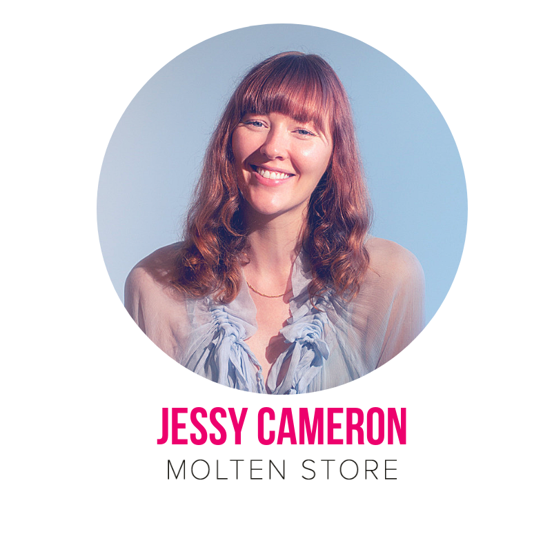A finalist in the Telstra Young Business Women's Awards in 2016, Brisbane-based Jessy Cameron is the founder and Managing Director of Molten Store. Jessy leads a team of eleven remarkable women, having grown the brand with her from a bedroom-based start up funded by her part time job in 2011 to a distinctive brand with a strong ecommerce presence in addition to a brick and mortar boutique amid Brisbane's luxury James Street precinct and a ceremonial Annex on Kingsford Smith Drive in Hamilton. Over the past twelve months, Jessy has guided the Molten Store business from its former product focus of costume jewellery towards a renewed vision of circularity - manufacturing new pieces made with recycled and reclaimed metals and gemstones, while also sourcing, refurbishing and retailing vintage jewellery (with a strong emphasis on vintage engagement jewellery).