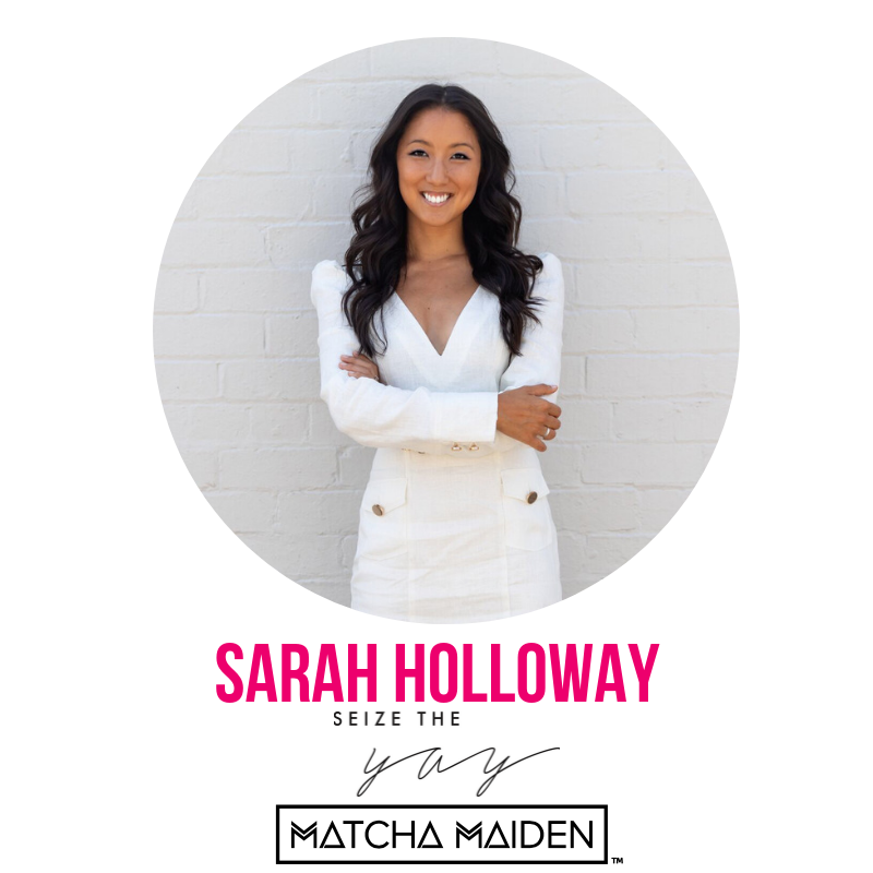 """Sarah began her working life as a mergers and acquisitions lawyer at a leading international law firm. While she enjoyed several years building strong professional foundations, she found it increasingly challenging to reconcile the all-consuming corporate lifestyle with her personal passions for health, wellbeing, creativity and adventure. In pursuit of balance, Sarah and her partner started     Matcha Maiden     closing a gap they discovered in the health food market for matcha green tea powder. Matcha is now one of the world's premier health food trends and     Matcha Maiden     is leading the way with a growing community of over 1500 stockists including Anthropologie across the USA, Australian and US warehouses, and a very bright (green) future.      Sarah has now hung up the suits and heels to step into the business full time. In 2016, the matcha mission developed into a physical venue and cutting edge cafe,     Matcha Mylkbar    , which is taking the food world by storm. Sarah now splits her time between the two businesses and is thoroughly enjoying life as a full time funtrepreneur. She has also started a podcast,     Seize the Yay    , which investigates the difference between success and happiness, the importance of cultivating """"joy"""" and showcases the down to earth, human side of her diverse and esteemed guests."""