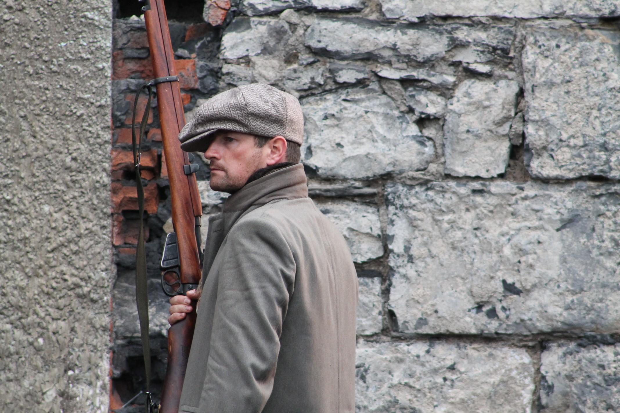 Irish Volunteer keeps lookout and awaits battle