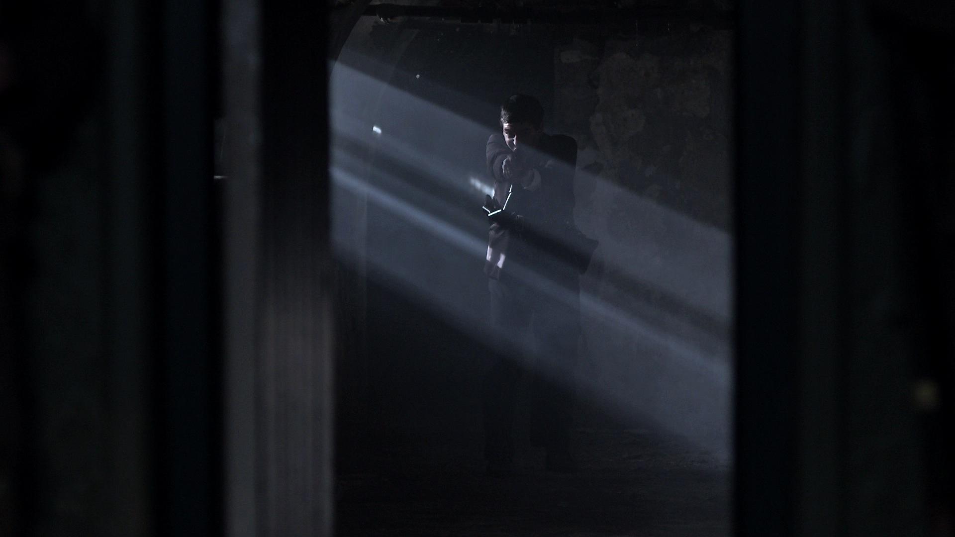 Seamus Grace (Cillian O'Donnachadha) escaping 25 Northumberland Rd.