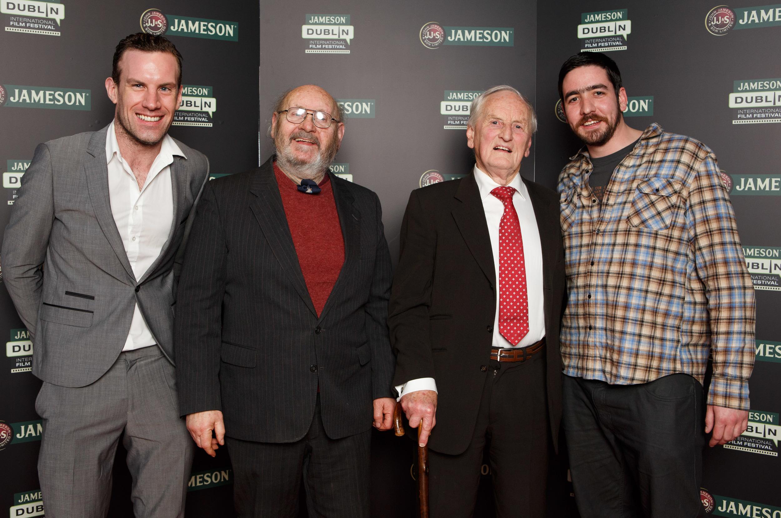 Rick Burn (Jack Shouldice), his 'son' Chris Shouldice, Frank Shouldice and his 'father' Colin D. Farrell (Frank Shouldice)