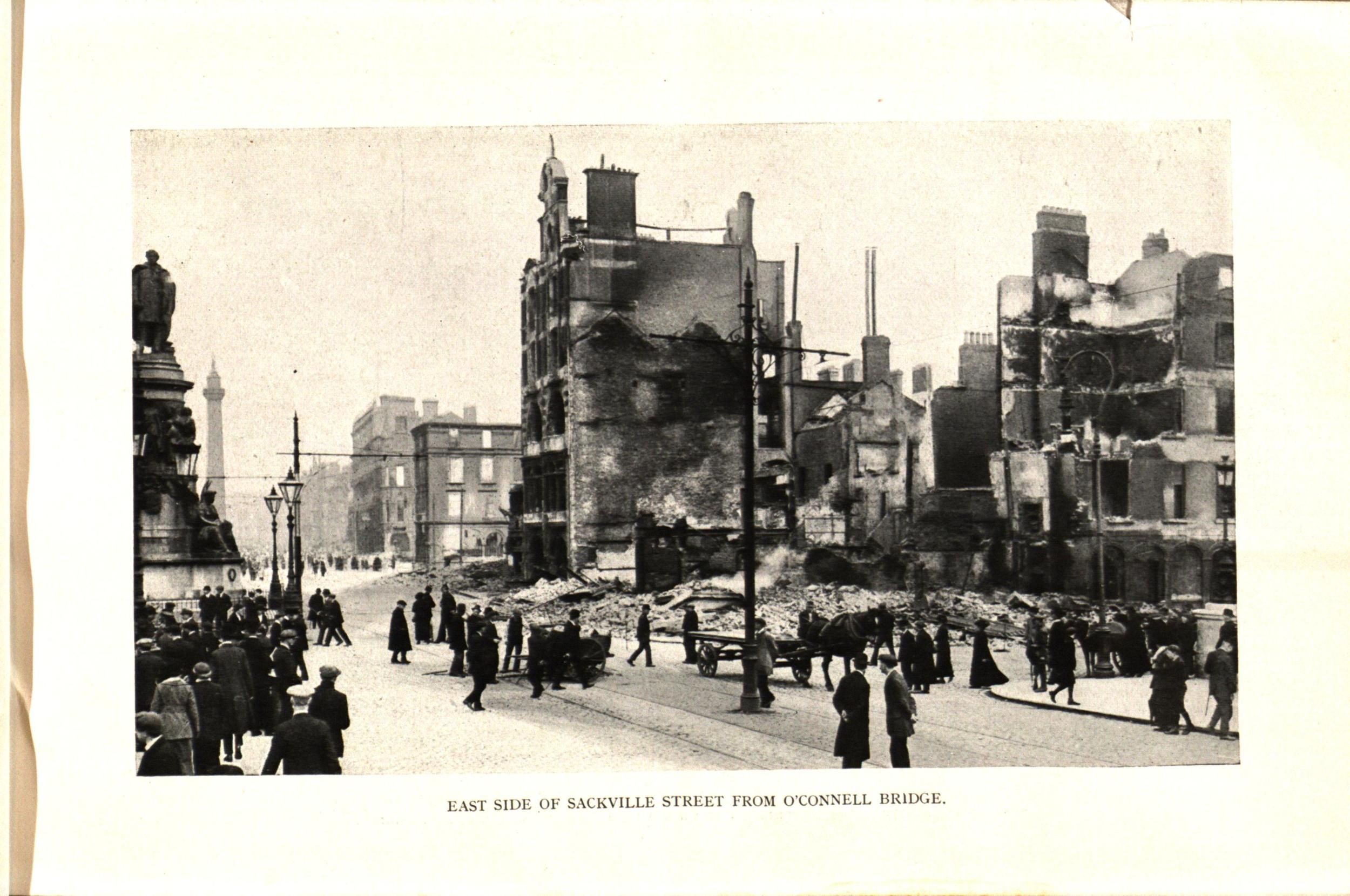 East side of Sackville Street (now O'Connell St.) from O'Connell bridge