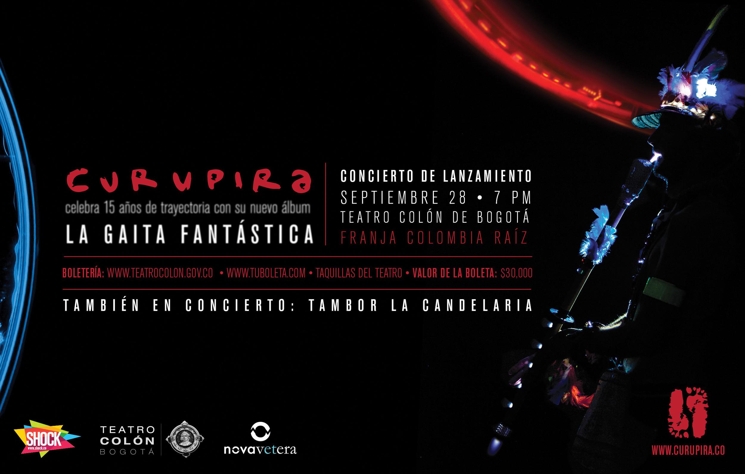 La Gaita Fantástica | Launch Concert Flyer