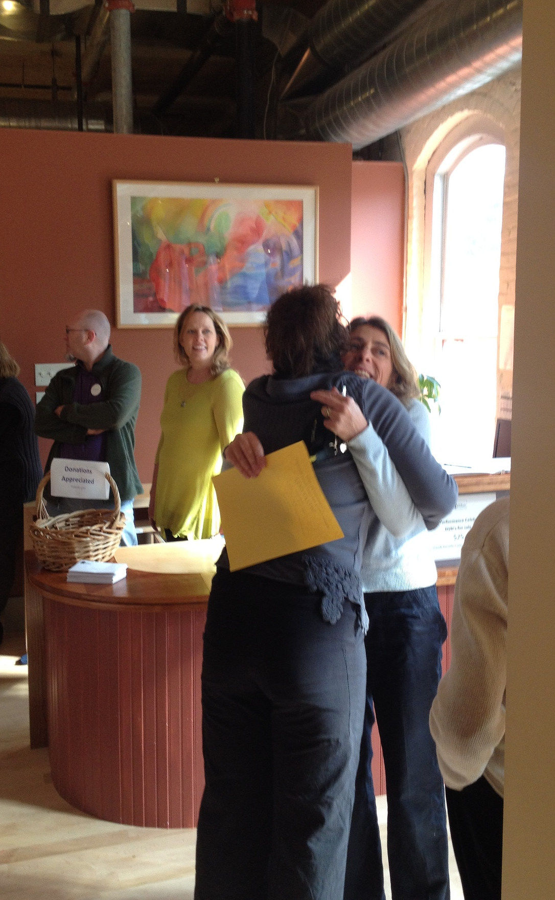 Bettina Montano, Founder and Creative Director of Berkshire Pulse receiving well-deserved hug.