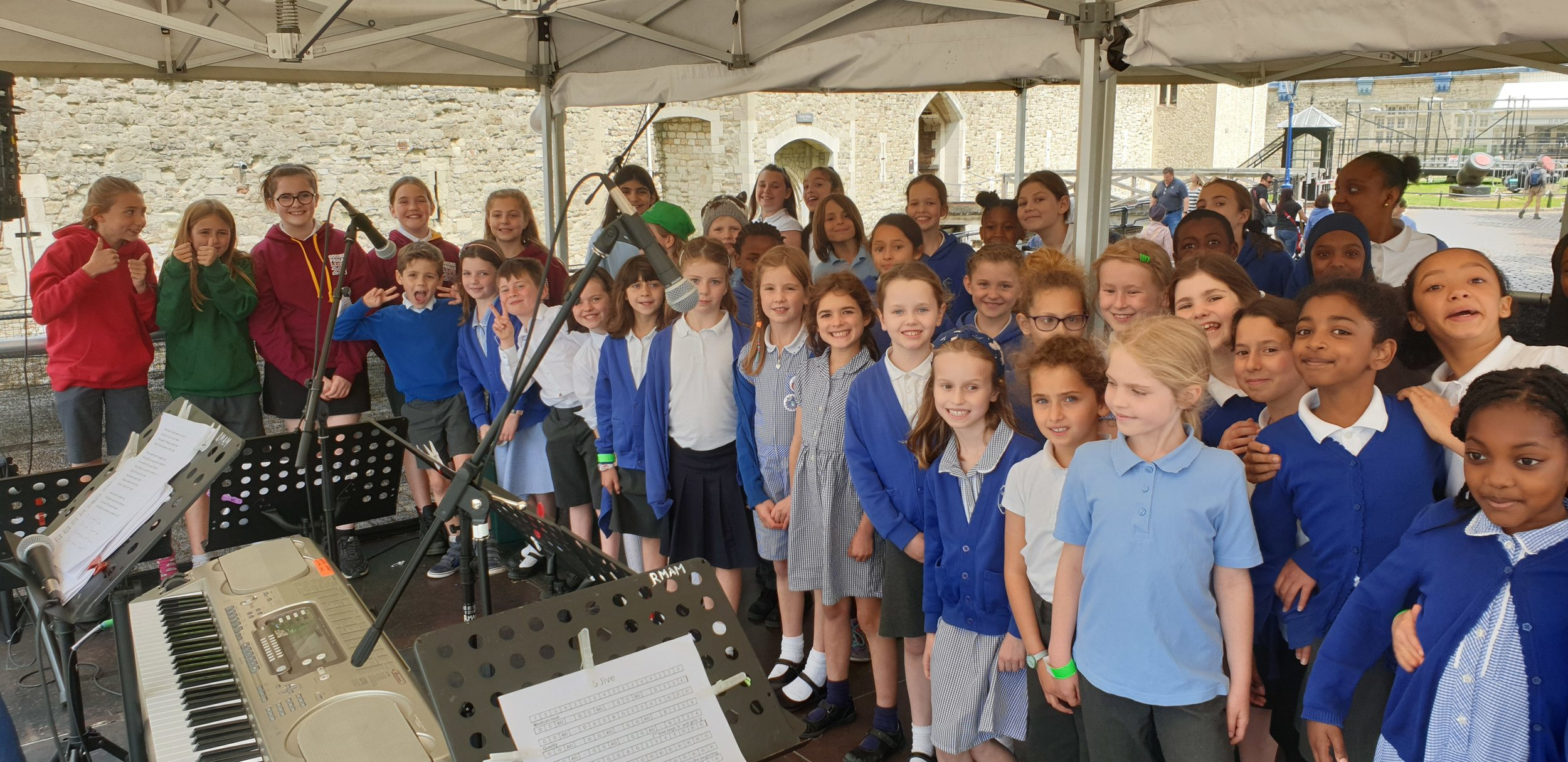 The Choir - Last week, our wonderful choir went to the Tower of London to perform in the Music at the Tower Festival. Our children were awesome! Well done choir!