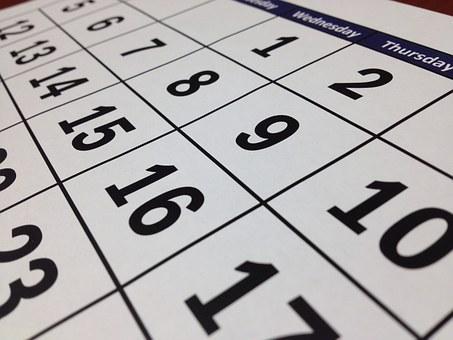 Calendar of Events -