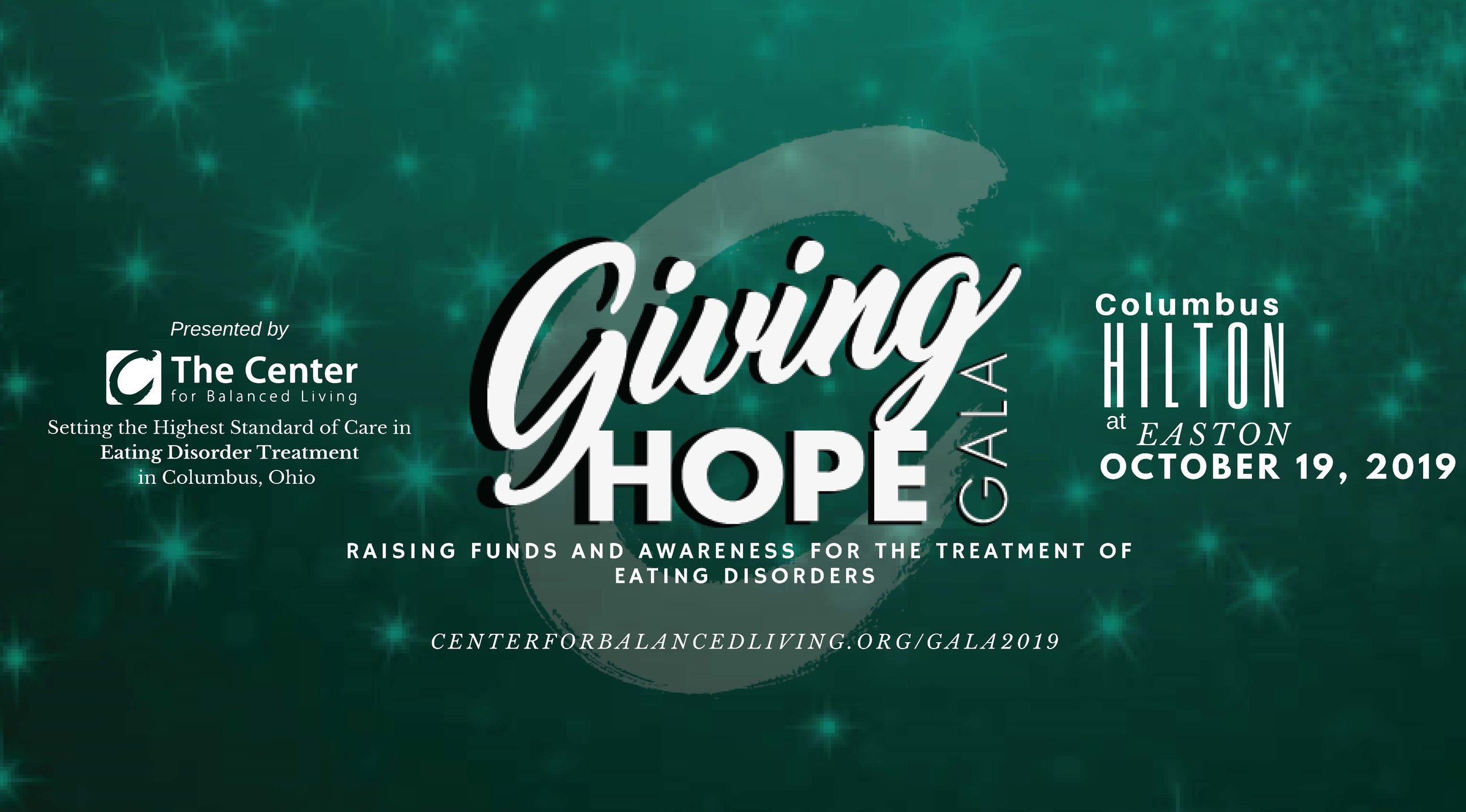 Save the Date for our 3rd Annual Giving Hope Gala! - For questions regarding the Giving Hope Gala auction item donations, sponsorships, or tickets, please contact Jill Fondriest at jill.fondriest@thecenterforbalancedliving.org