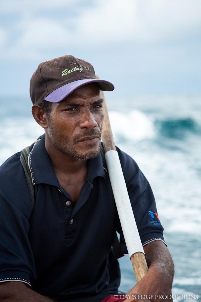 James, one of Dr. Albert Uy's local assistants in Makira, Solomon Islands.