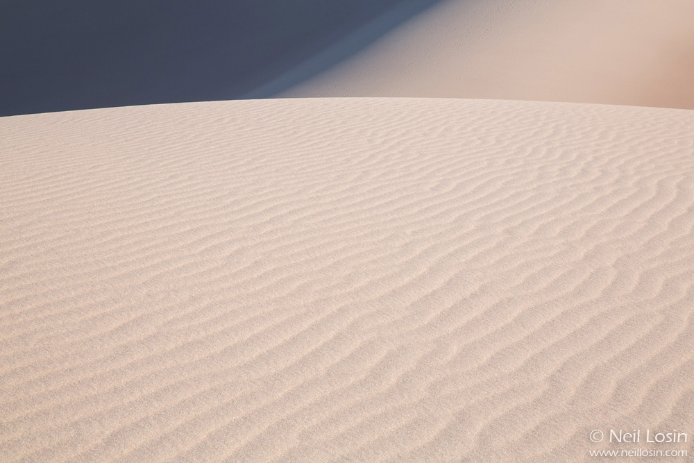 Sand and shadows in Great Sand Dunes National Park, Colorado.