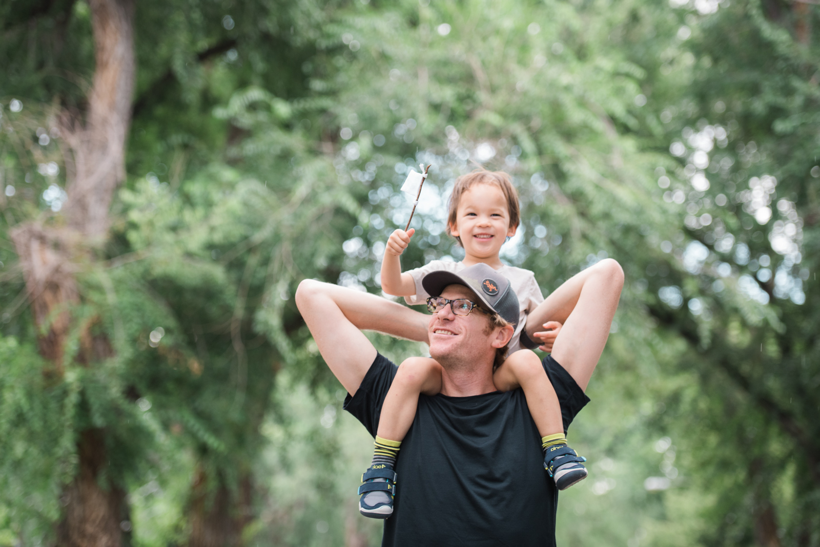 Crossing the finish line together starts young. (Co-founder JP with our little boy).
