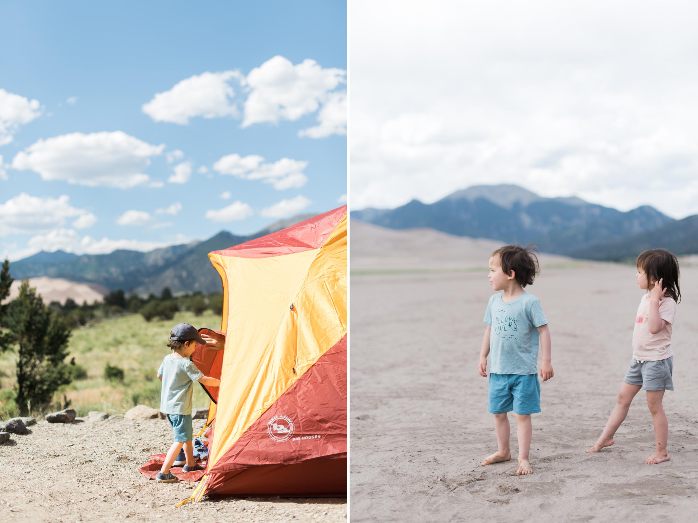 Sand Dunes National Park Campsite, Colorado