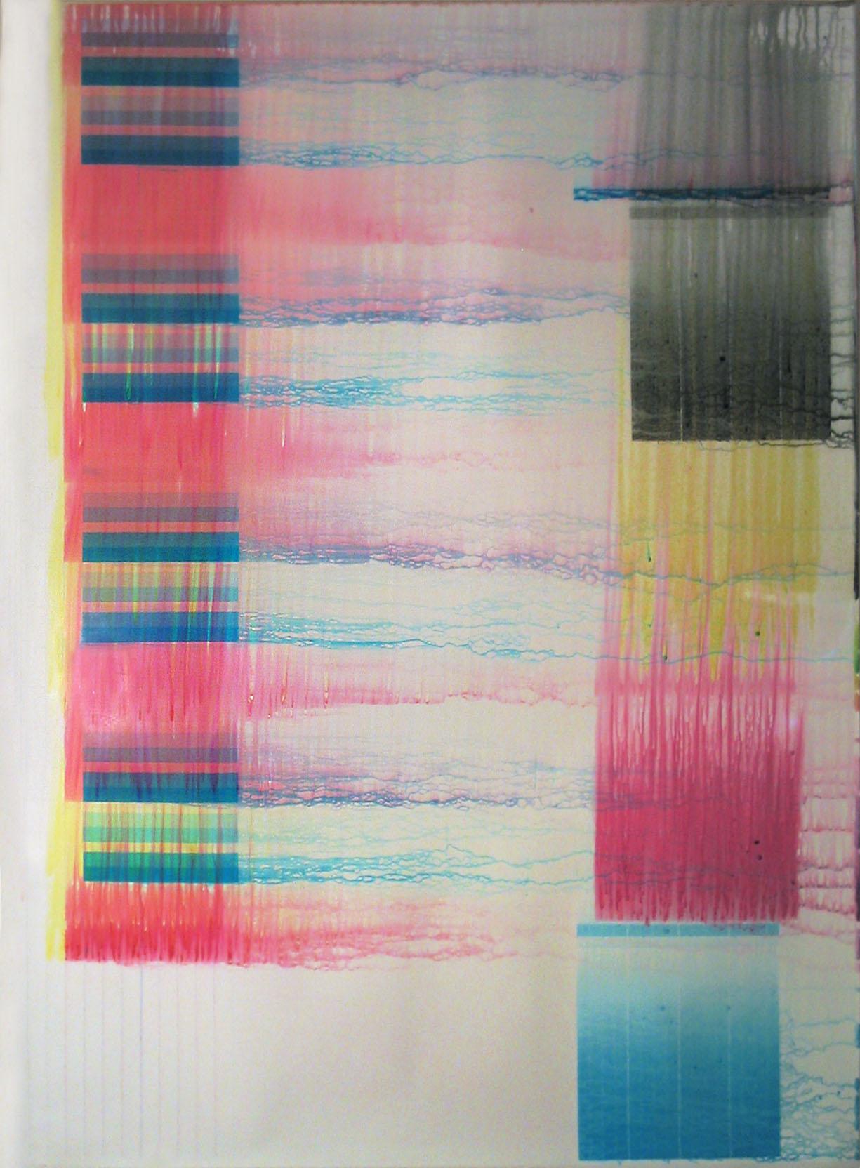 "34""x46"" water on iris print"