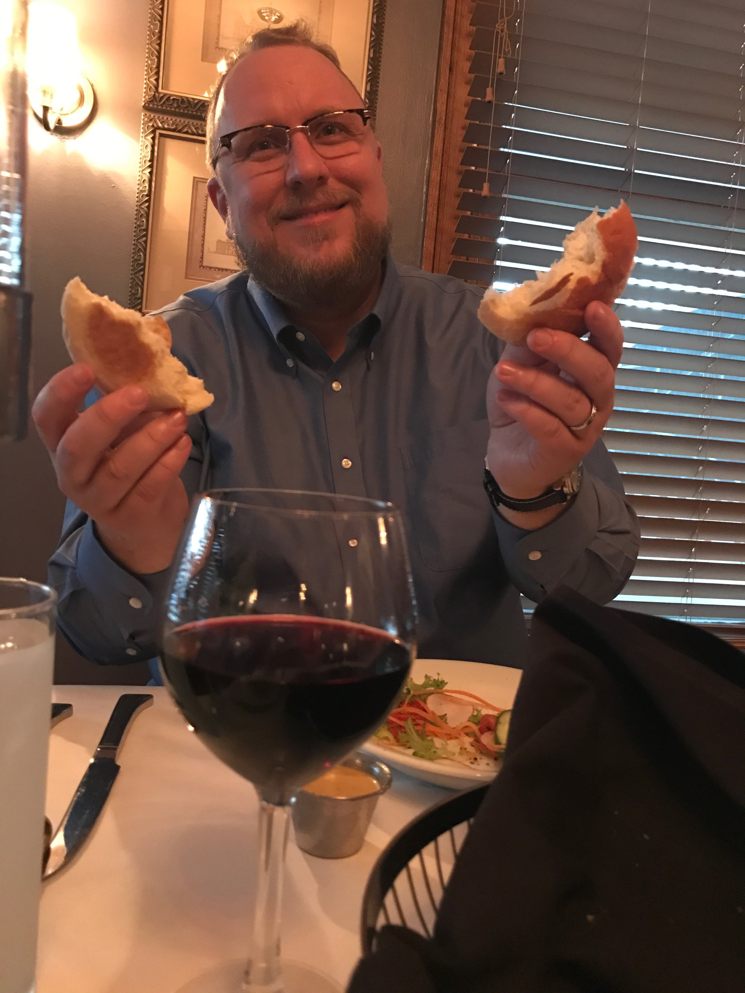 This is what happens when you go to dinner with a priest!