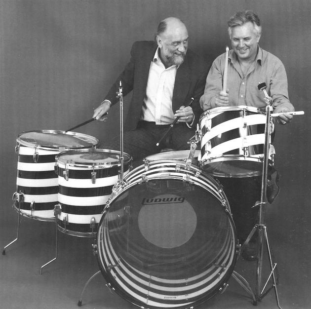Ted Owen & Mick Fleetwood on John Bonham's Drum Kit back in 2008