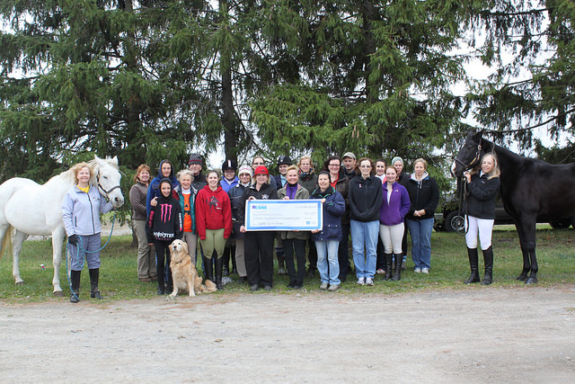 Check Presentation To Roswell Park From Saddle Up for Roswell $15,108.00 Well done everyone!