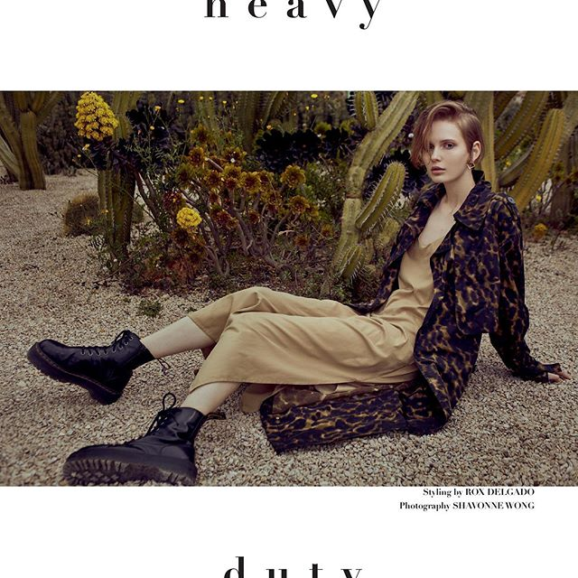 One more from 'Heavy Duty' #fashioneditorial in the June print issue of @glamour_sa  Photographer @zhiffyphotography , makeup and hair by me using @marcjacobsbeauty @labelmuk , styling @roxdelgadostyle , model @lizakryskina from @blowmodels . . . #fashionphotography #utilitarian #editorial #makeupartist #editorialmakeup #makeupbarcelona