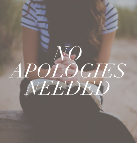 No Apologies Needed  In this study of Apologetics, we ask the questions that need to be asked. We study how Christians think. We form logical defenses against the opponents of Scripture. We become theologians in our deeper appreciation of our role as students and teachers. We prepare to give a defense of the hope that is within us.