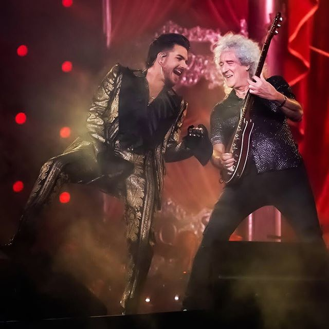 Adam Lambert and Brian May of Queen perform at the Global Citizen Festival